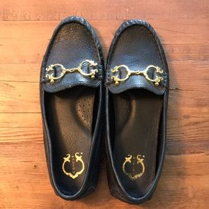 C wonder black leather loafers